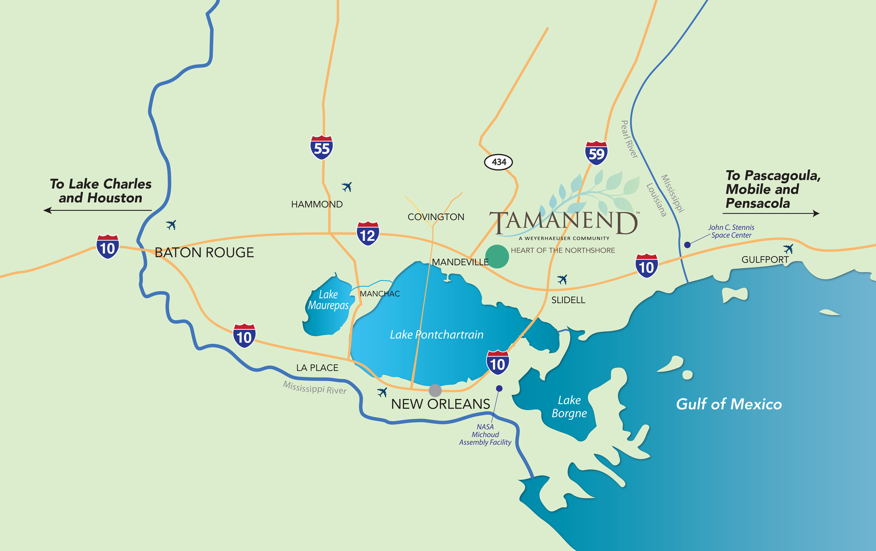 Tamanend Location Map