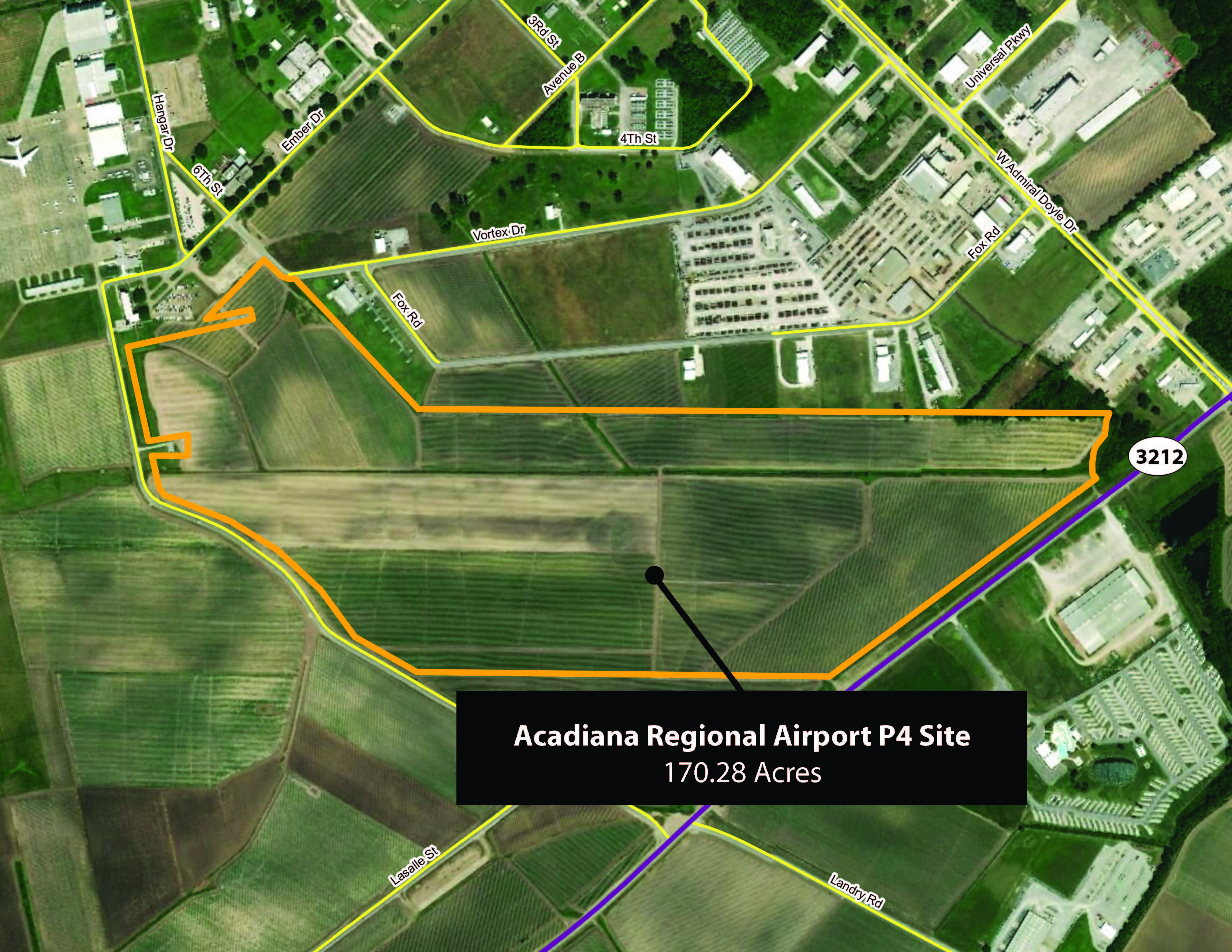 Acadiana Regional Airport P4 Site Aerial map