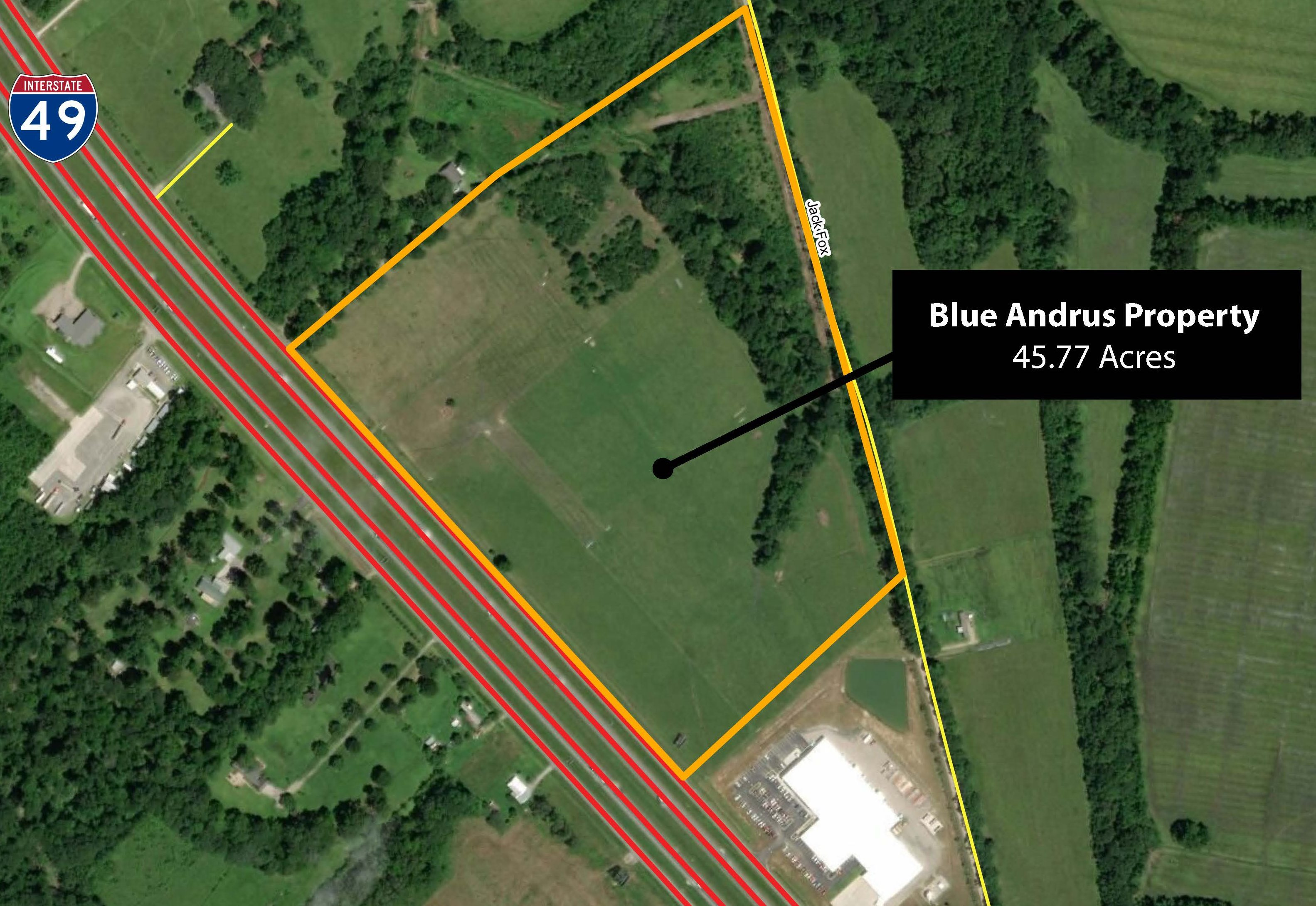 Blue Andrus Property Aerial