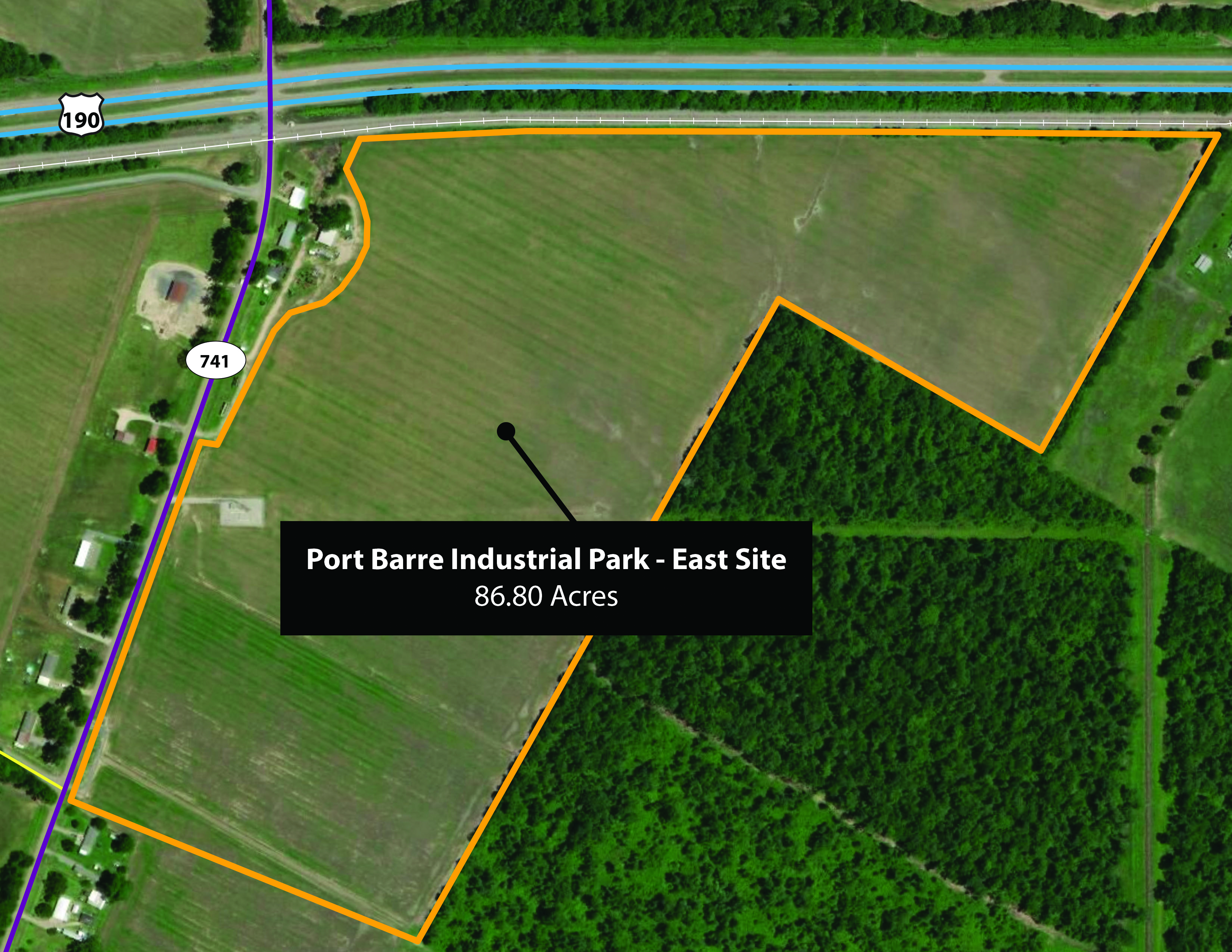 Port Barre Industrial Park East Site Aerial Map