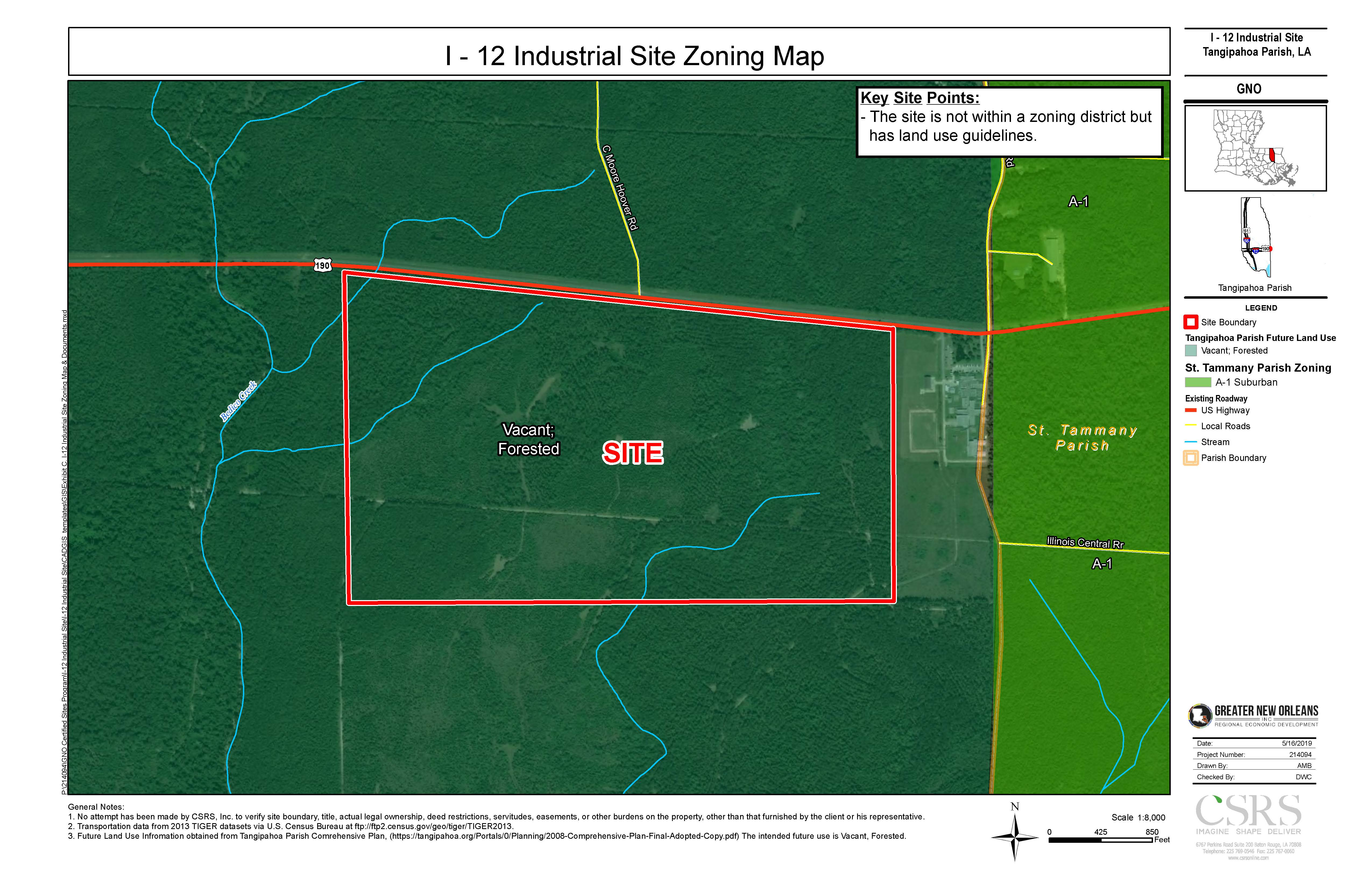 I-12 Industrial Site Zoning Map Aerial--#4