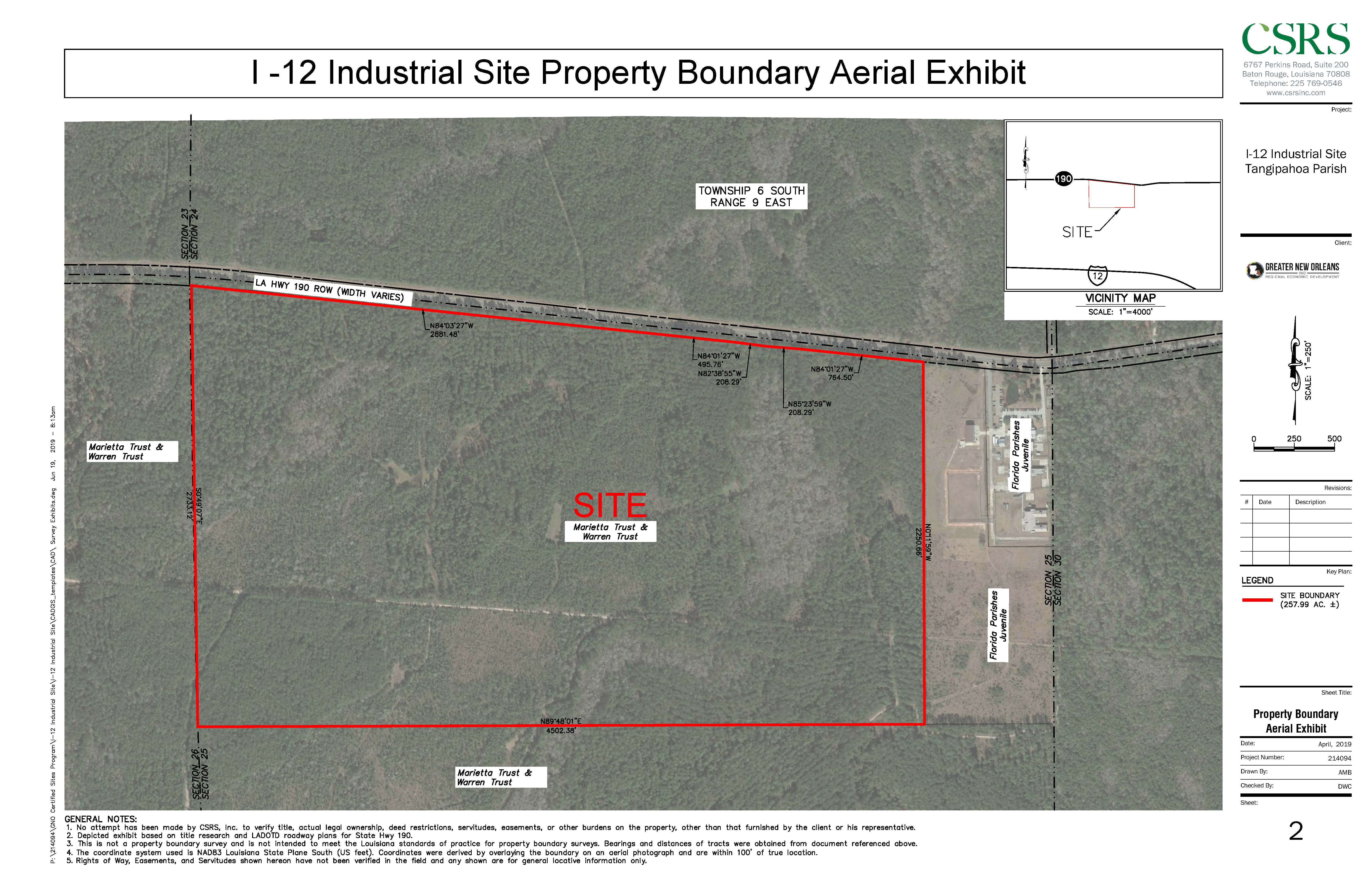I-12 Industrial Site Boundary Aerial--#3